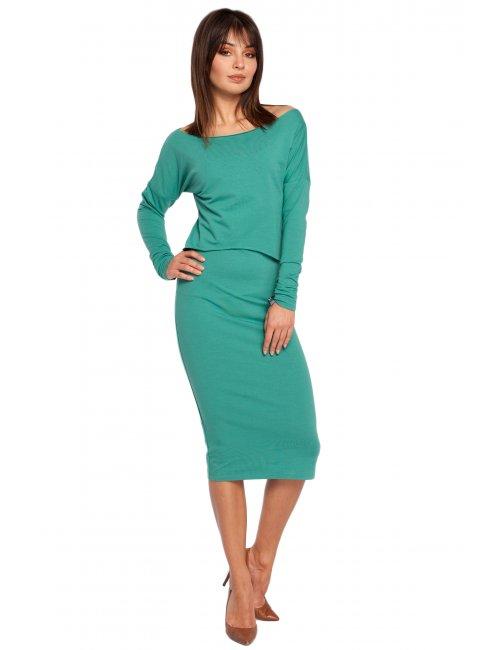 Dámske šaty B001 BE - zelená