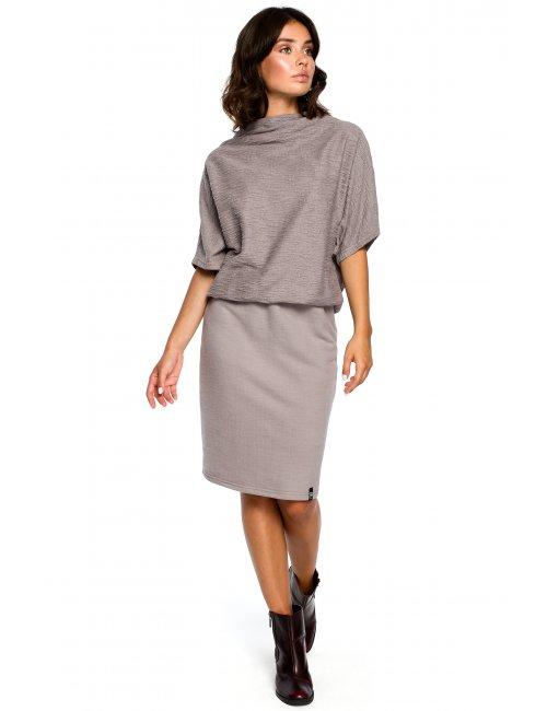 Dámske šaty B097 BE - šedá