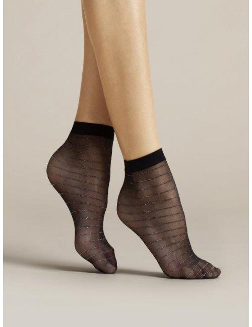 Dámske vzorované ponožky ANELLO 20DEN Fiore