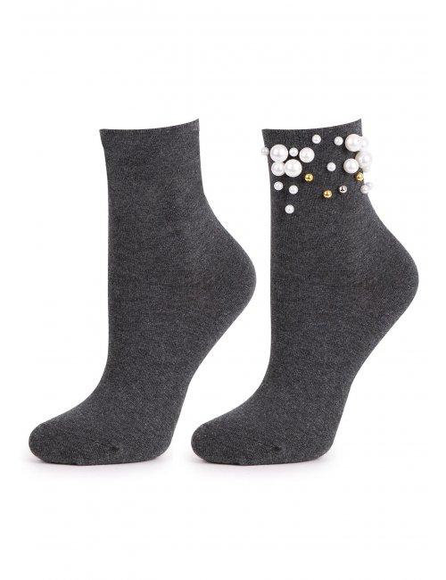 Ženske čarape PEARL DREAM Marilyn tamno sive