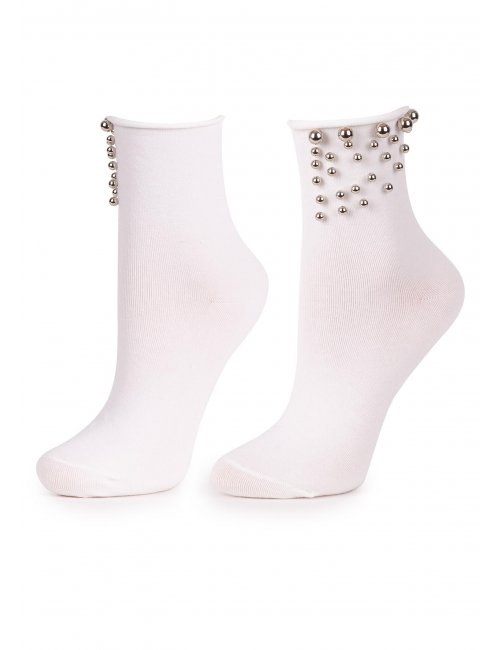 Ženske čarape SILVER TEARS Marilyn bijele
